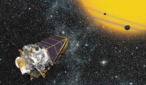 An artists depiction of the Kepler Telescope