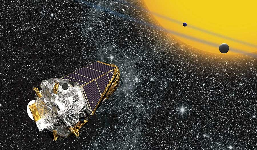 An artists depiction of the Kepler Telescope