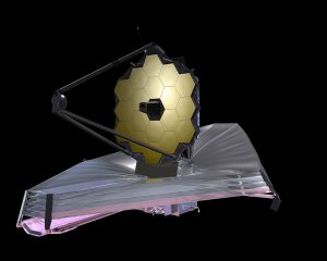 A picture of the James Webb Telescope