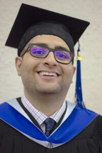 A photo of Dilraj Dosanjh during his 2018 BCIT graduation ceremony